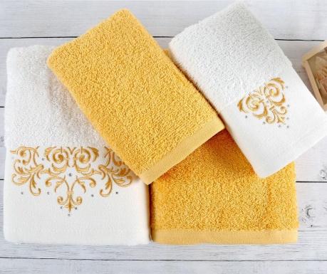 Sada 4 ručníků Flossy White