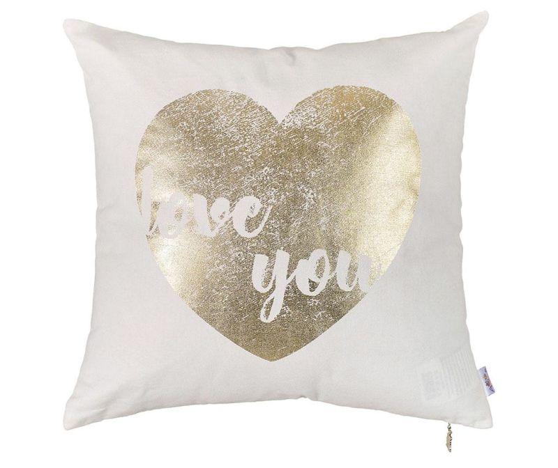 Jastučnica Golden Heart 45x45 cm
