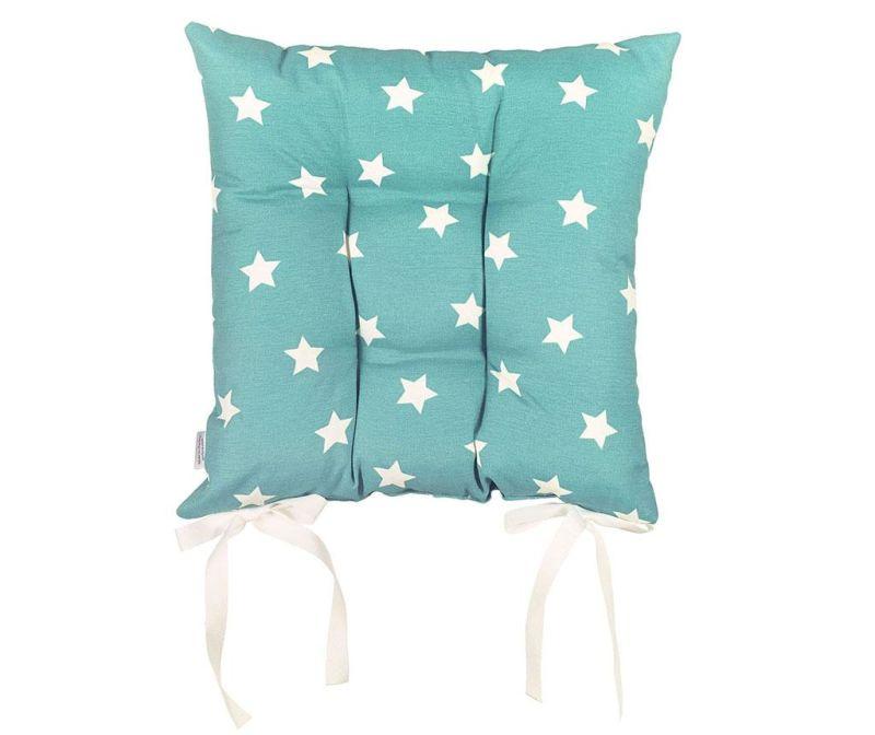 Sedežna blazina Turquoise with Stars 37x37 cm