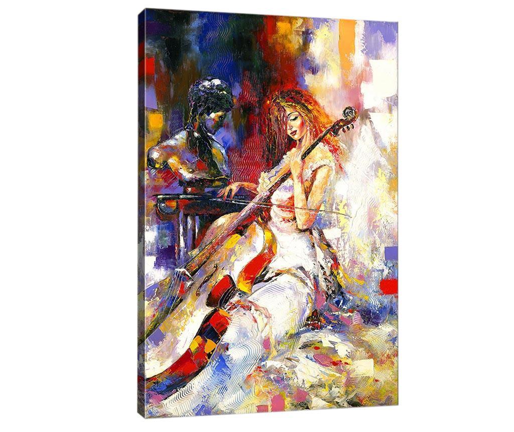 Tablou Contrabass Player 50x70 cm