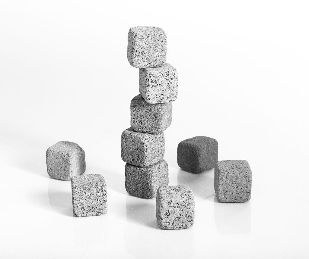 Set 10 pietre pentru racire Cooler - Taşev, Gri & Argintiu