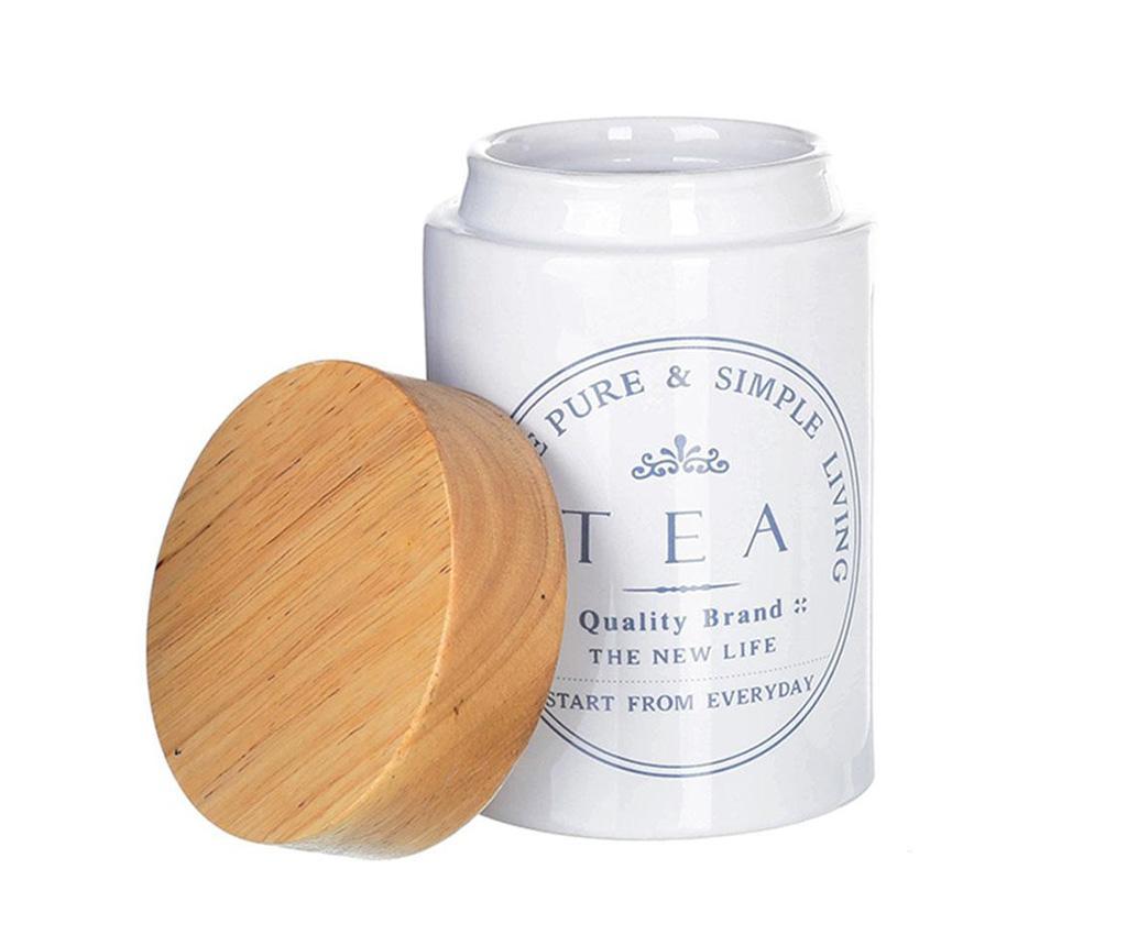 Recipient cu capac pentru ceai Simple Living - Casa Selección, Alb
