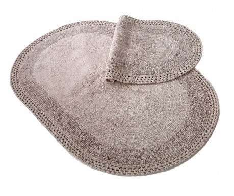 Zestaw 2 dywaników łazienkowych Laverne Mink