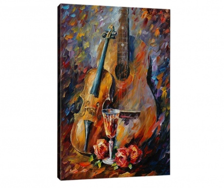 Obraz 3D Music and Wine 50x70  cm