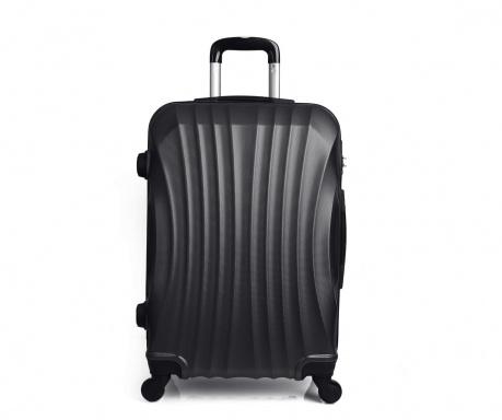 Moscou Black  Gurulós  bőrönd