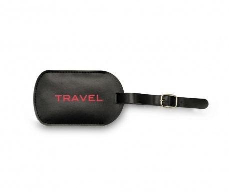 Eticheta pentru bagaje Travel Red