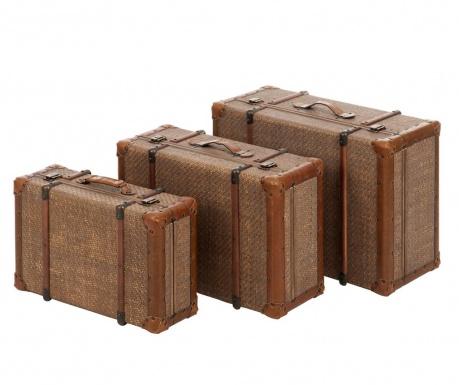 Sada 3 dekoračních cestovních kufrů Voyage