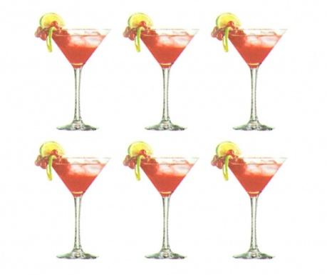 Set 6 pahare pentru cocktail Marine 210 ml
