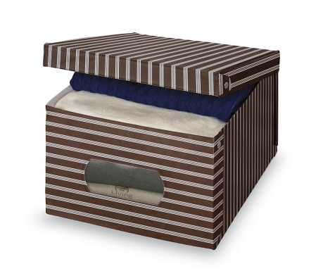 Cutie cu capac pentru depozitare Brown Stripes