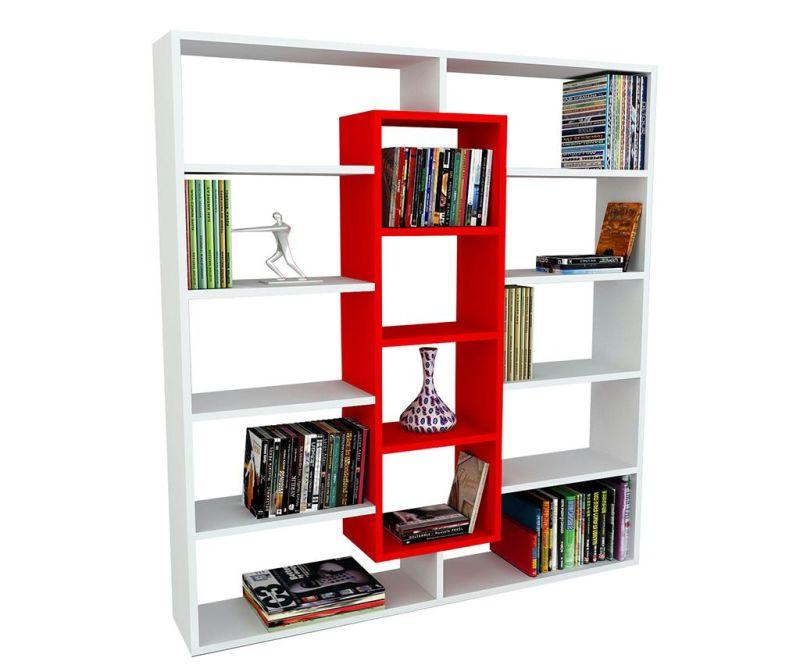 Knjižni regal Center Red White