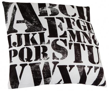 Letters Pattern Díszpárna 45x45 cm