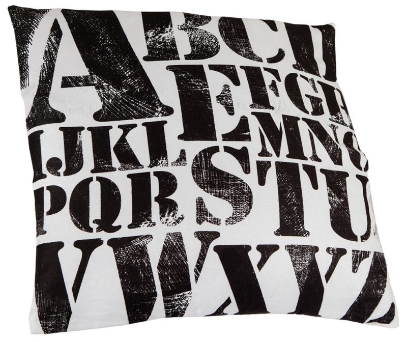 Perna decorativa Letters Pattern 45x45 cm