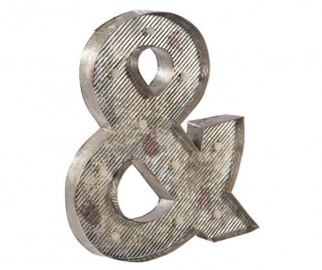 Svetelná nástenná dekorácia Ampersand