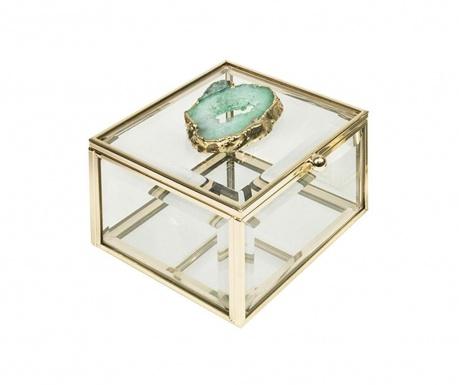 Pudełko z pokrywką Agate Turquoise Decorations