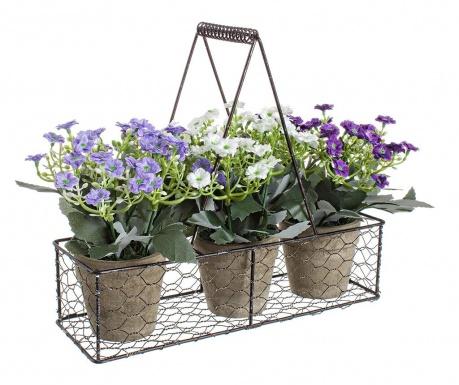 Zestaw 3 kwiatów sztucznych w doniczce z uchwytem Summer Miracles