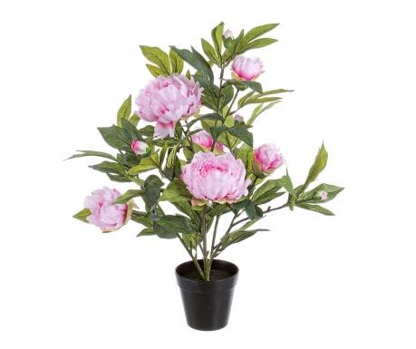 Umělá květina v květináči Peach Pink Poeny