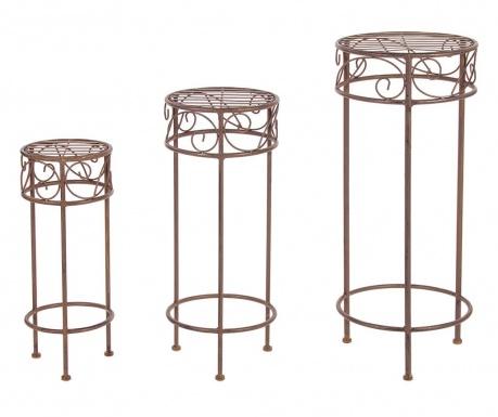 Set 3 stojal za cvetlične lonce Melanie Round