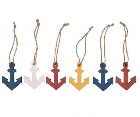Colorful Anchors 6 db Felfüggeszthető dekoráció