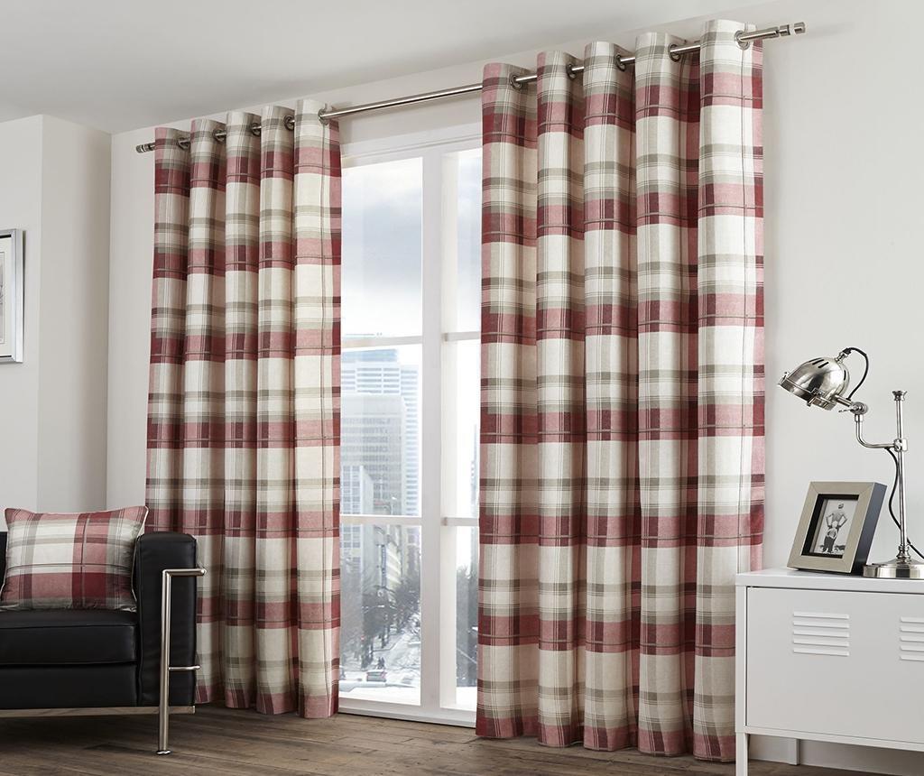 Set 2 draperii Balmoral Ruby 117x183 cm