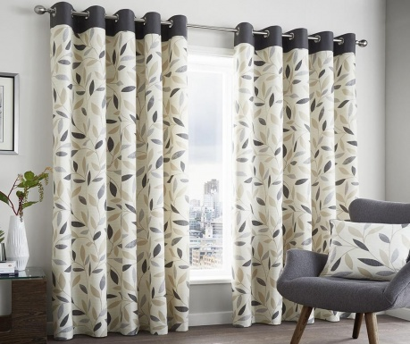 Set 2 draperii beechwood charcoal 117x229 cm for Cortinas salon blanco y gris
