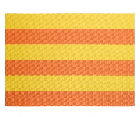 Set 4 individualuri Stripe Orange yellow 33x46 cm