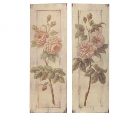 Set 2 tablouri Flower Garden 25x76 cm