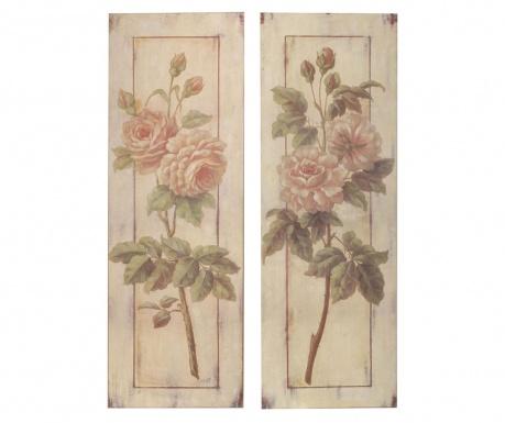 Set 2 sliki Flower Garden 25x76 cm