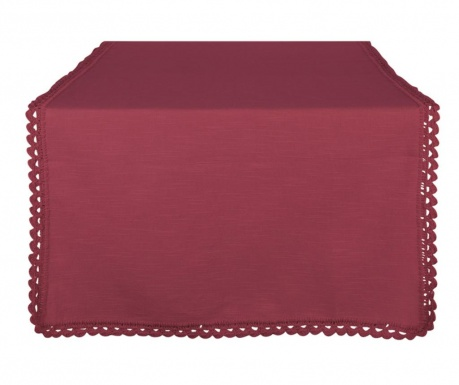 Traversa de masa Crochet Bordeaux 50x140 cm
