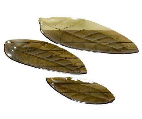 Zestaw 3 pater dekoracyjnych Green Leaves