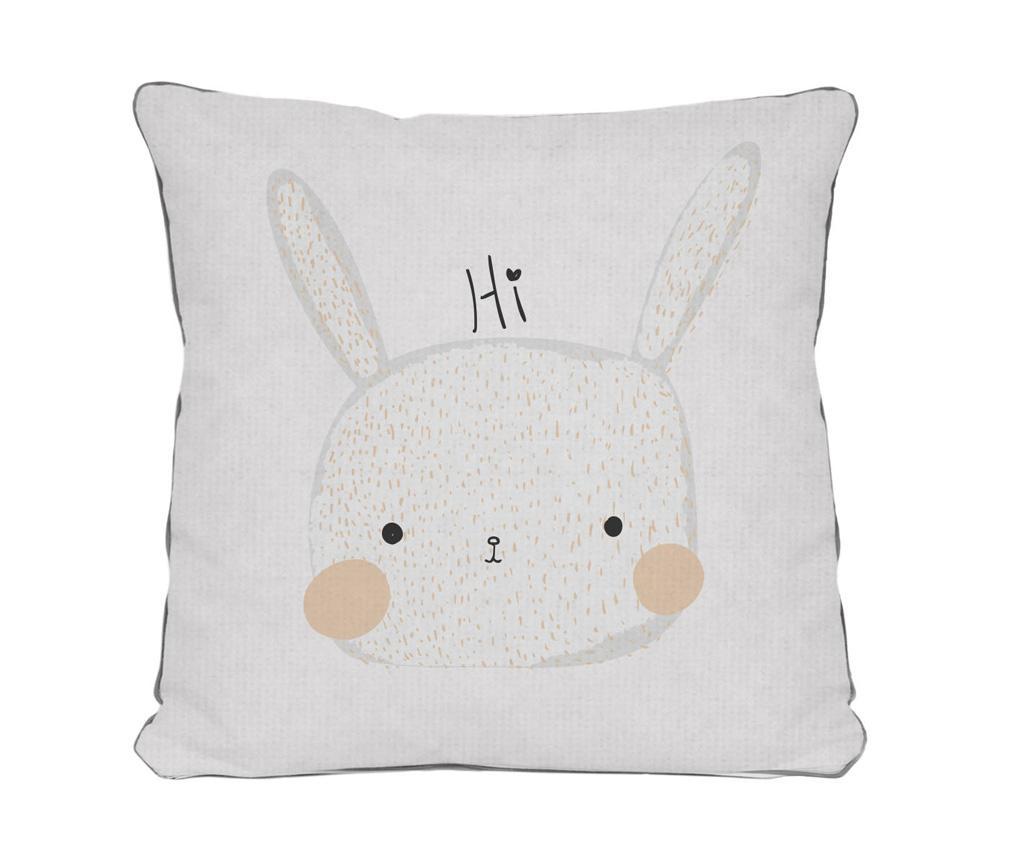 Perna decorativa Hi Rabbit 45x45 cm - The Wild Hug, Alb