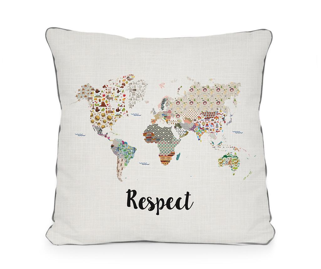 Perna decorativa Respect 45x45 cm - Really Nice Things, Alb