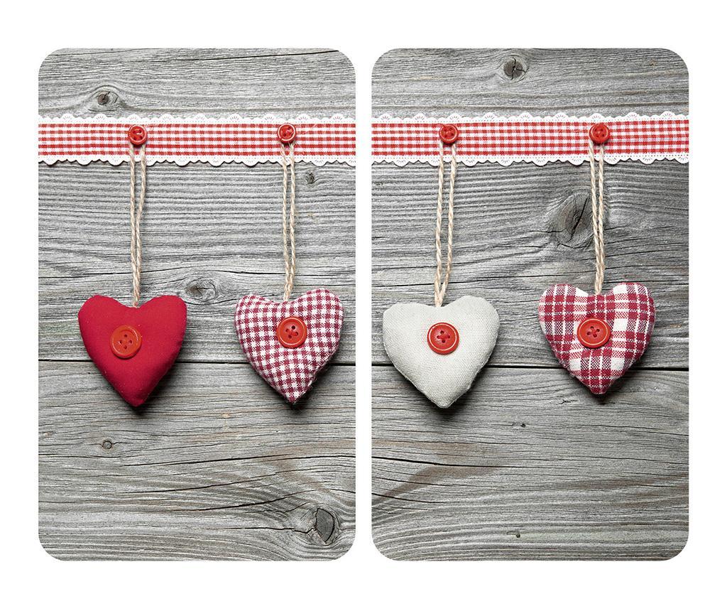 Set 2 planse protectoare pentru plita Hearts - Wenko
