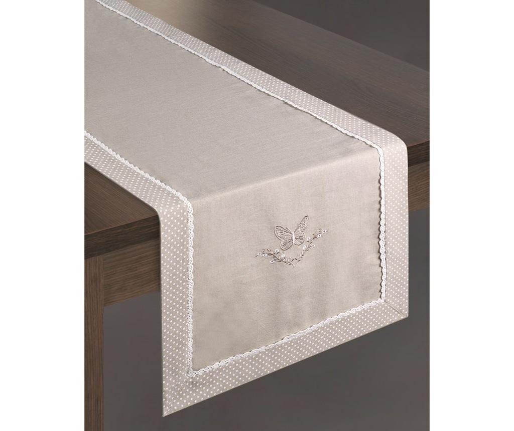 Traversa de masa Maripos 40x140 cm - Eurofirany, Gri & Argintiu