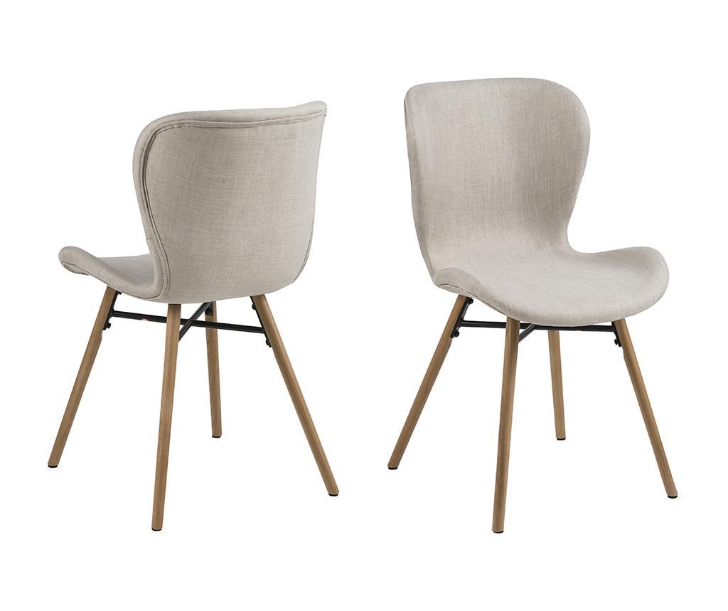 Set 2 scaune Batilda Sand - actona, Crem