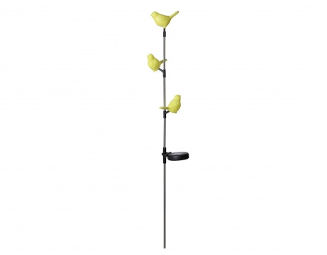 Lampa solara Birds Yellow