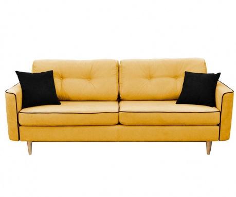 Kauč trosjed na razvlačenje Ivy  Mustard And Black