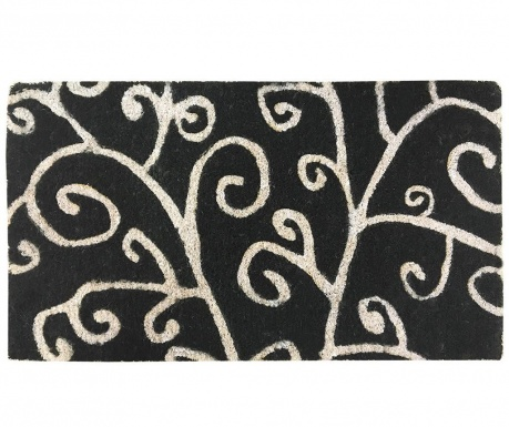 Входна изтривалка Tree Black 40x70 см
