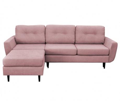 Hortensia  Pale Pink Kihúzható  Baloldali  Sarokkanapé