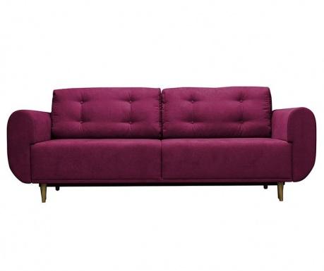 Venise  Purple Háromszemélyes Kihúzható Kanapé