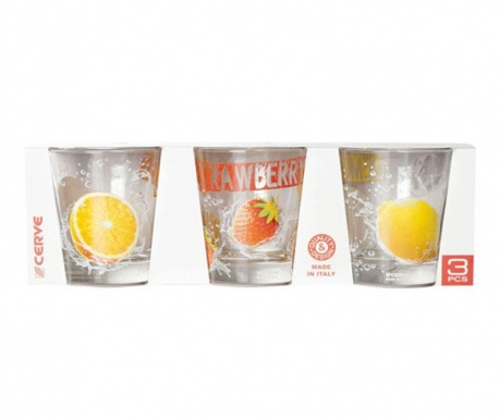 Set 3 pahare Nadia Tonic 250 ml