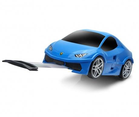Walizka dla dzieci Lamborghini Blue 18 L