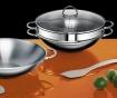 Vok ponev s pokrovom za parno kuhanje Ravenna 6 L