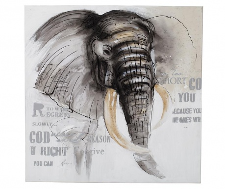 Tablou Elephant Side 80x80 cm