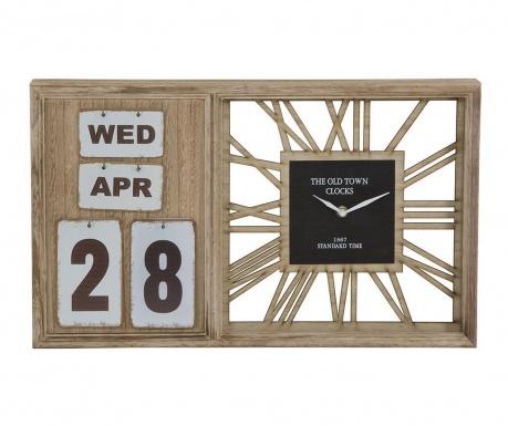 Nástenné hodiny s kalendárom The Old Town Wide