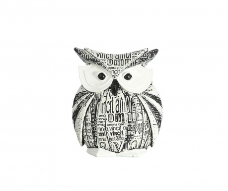 Dekorácia Owl Black and White