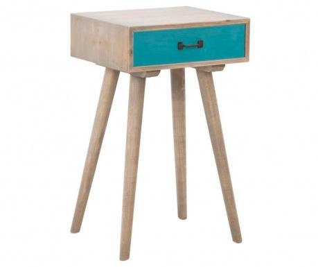 Ibiza Blue Asztalka 1 fiókkal
