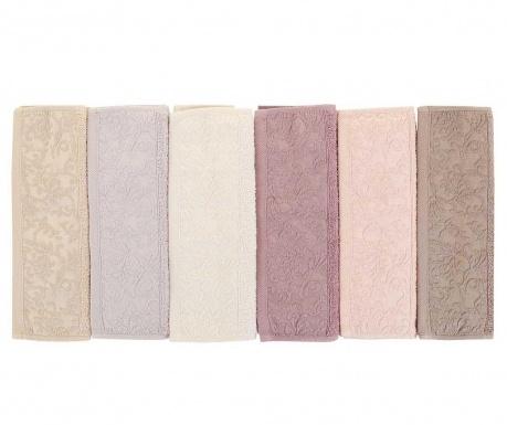 Sada 6 ručníků Wash Lilac 30x50 cm
