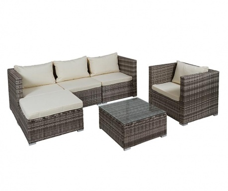 Set of 4 outdoor furniture pieces Henry