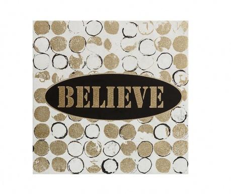 Obraz Believe 30x30 cm