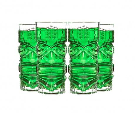 Zestaw 4 szklanek Tiki